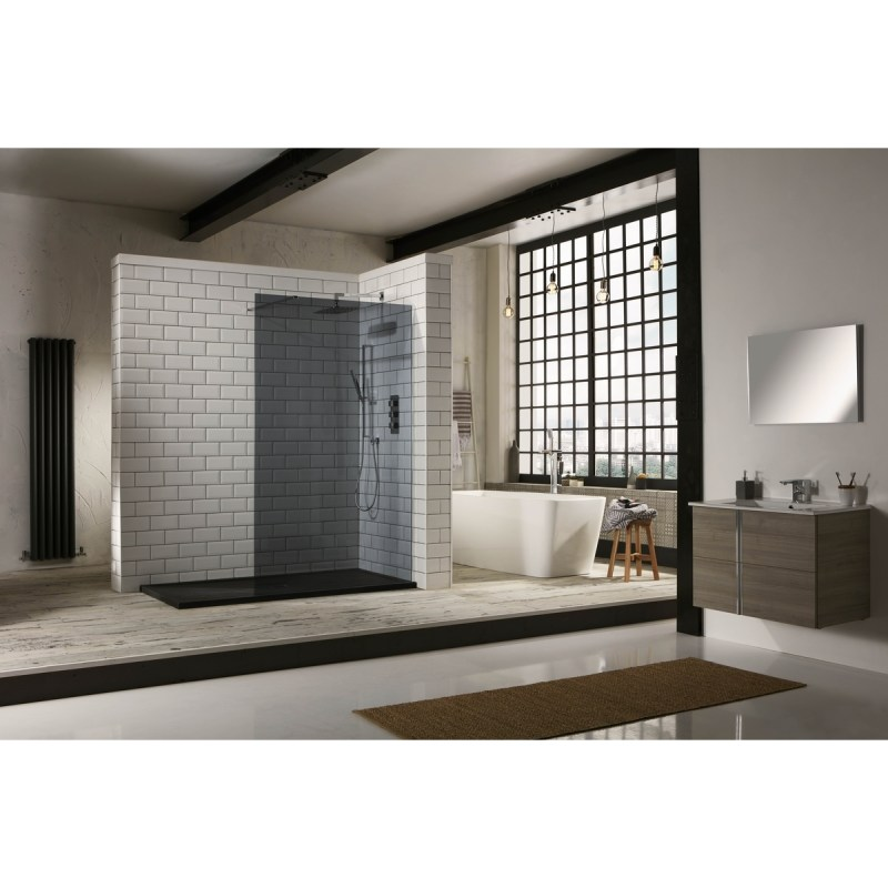 Aquaglass  1400mm Walk-In Front Panel Tinted Glass