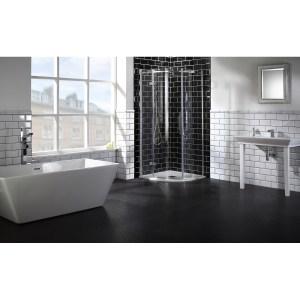 Aquaglass  Elegance 800x800mm Quadrant LH Enclosure