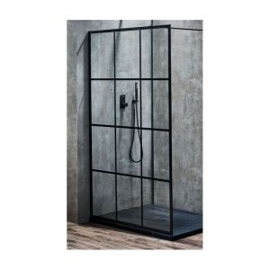 Aquaglass  Velar 1200mm Walk-In Front Panel Matt Black