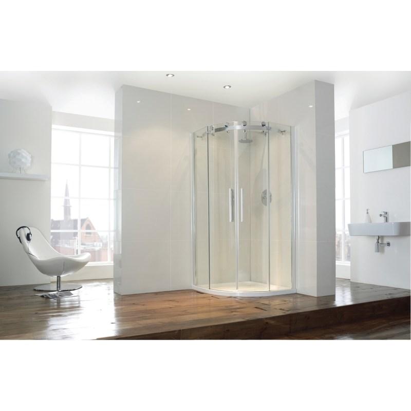 Aquaglass  Frameless 900x900mm 2 Door Quadrant