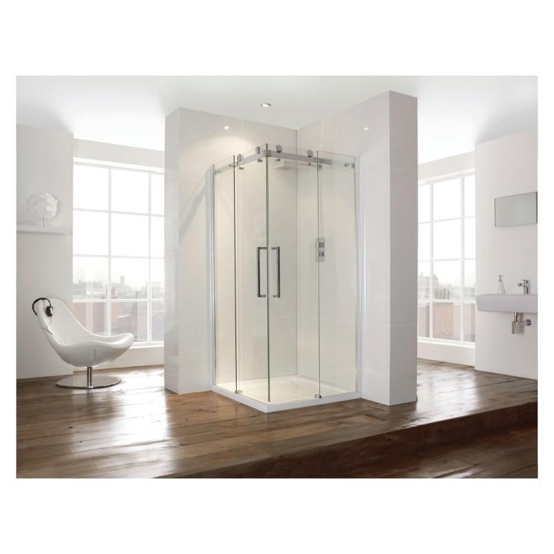 Aquaglass  900mm Corner Entry Shower Enclosure