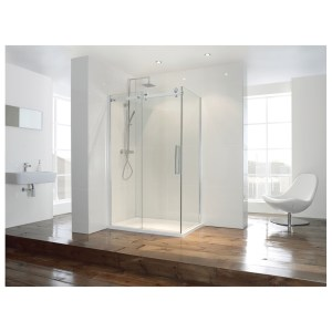 Aquaglass  Frameless 1400mm Sliding Shower Door