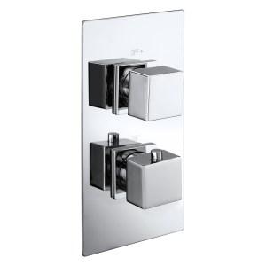 Aquaflow Italia Cube Twin Concealed Thermostatic Shower Valve