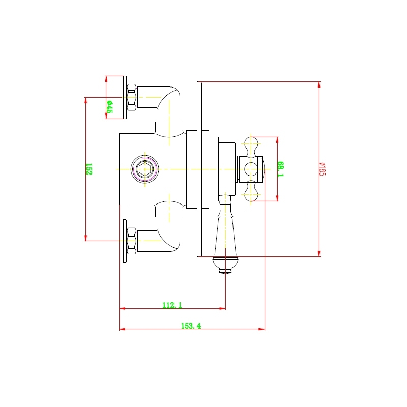 Holborn Edwardian Round Concealed Thermostatic Shower Valve