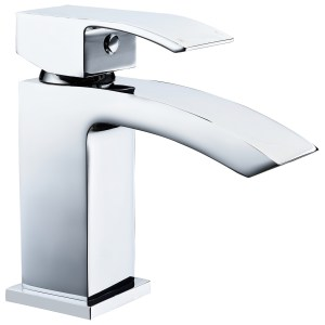 Aquaflow Pure Mini Basin Mixer with Click-Clack Waste