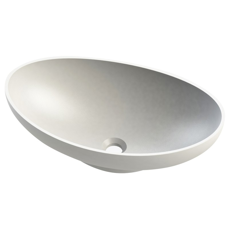 Aquanatural Queen Oval Stone Solid Surface Basin