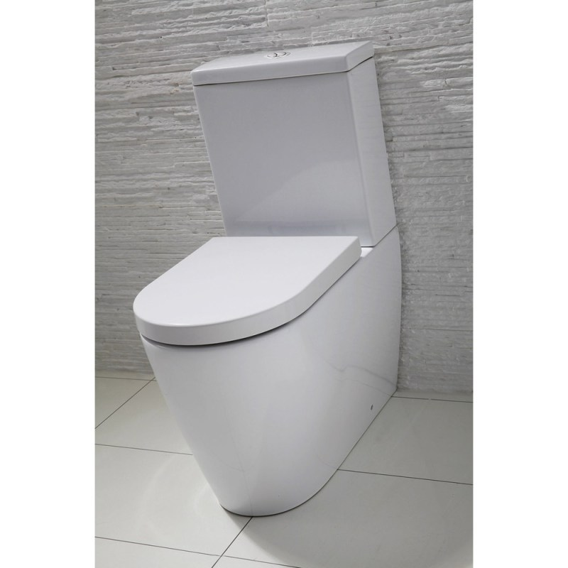 Frontline Emme Flush-To-Wall Toilet with Soft-Close Seat
