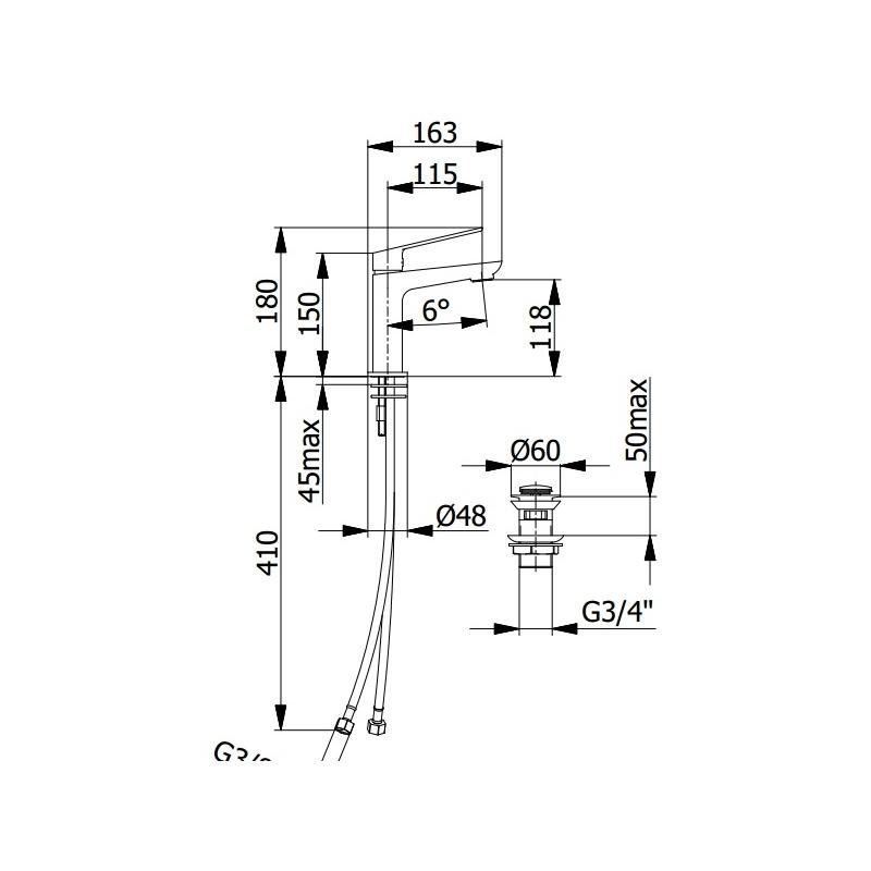 Aquaflow Sleek Basin Mixer Matt Black