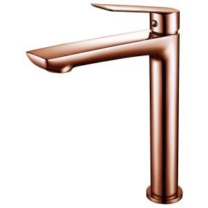 Aquaflow Sleek Tall Basin Mixer Rose Gold