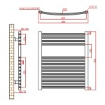 Frontline Curved Towel Rail 450x700mm Chrome
