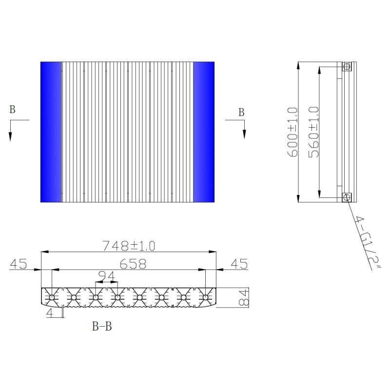Frontline Emme Designer Radiator White 600x748mm