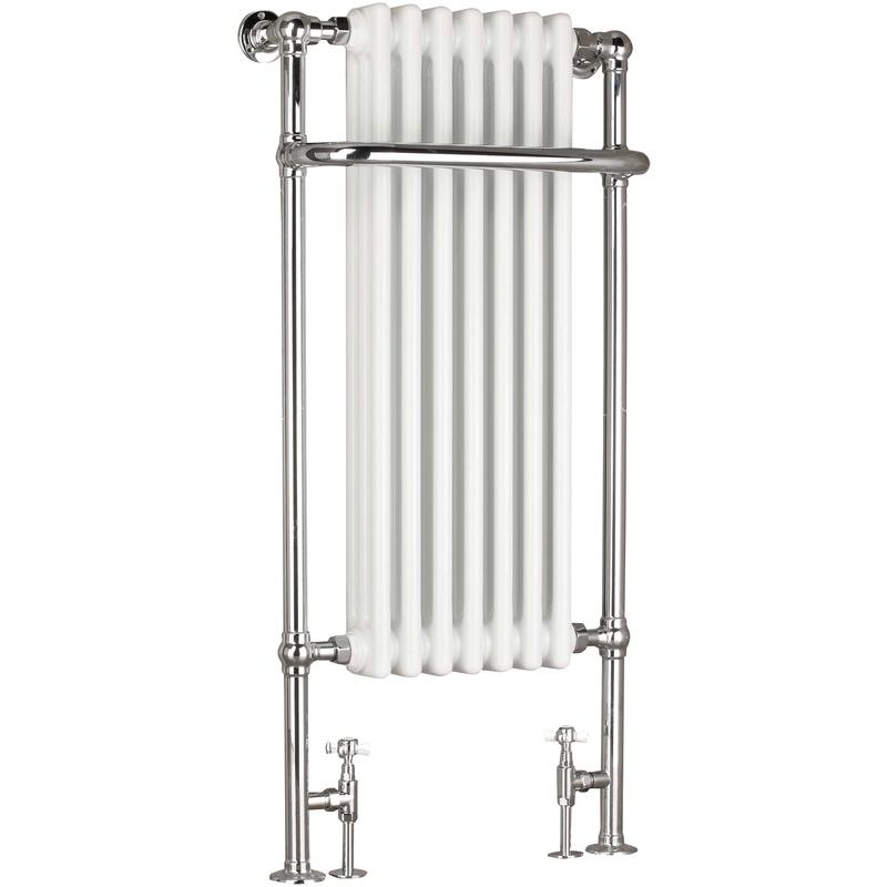 Frontline Victorian Towel Warmer Chrome/White 1130x553mm