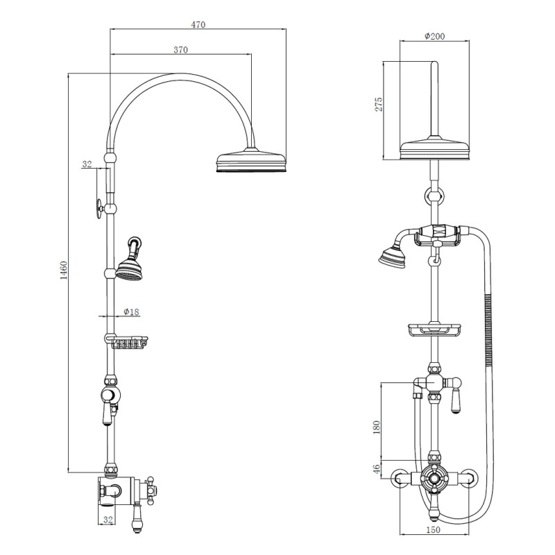 Holborn Edwardian Exposed Thermostatic Shower Pack