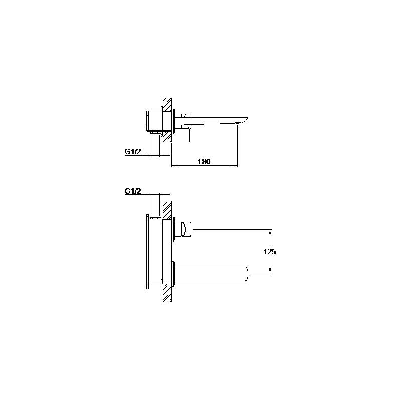 Aquaflow Vido Wall Basin Mixer