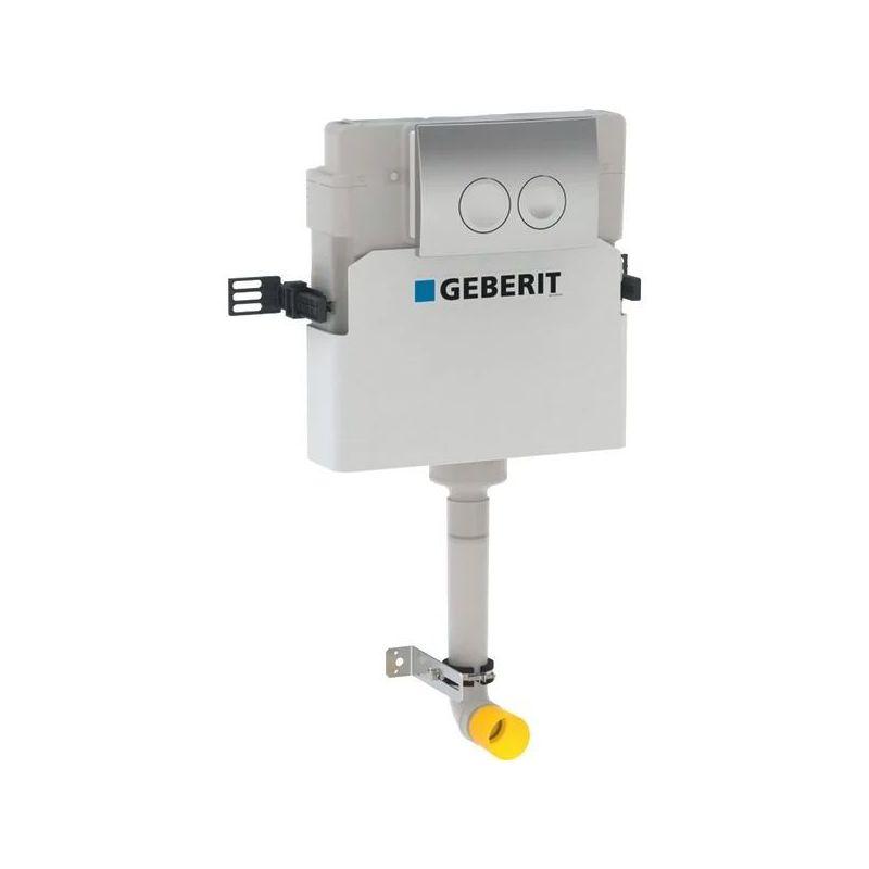 Geberit Delta Concealed Cistern 12cm & Flush Plate Gloss Chrome