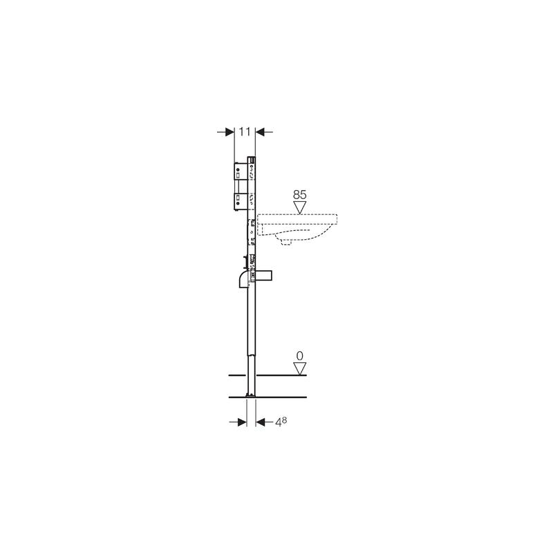 Geberit Duofix Frame for Washbasin, H112-130