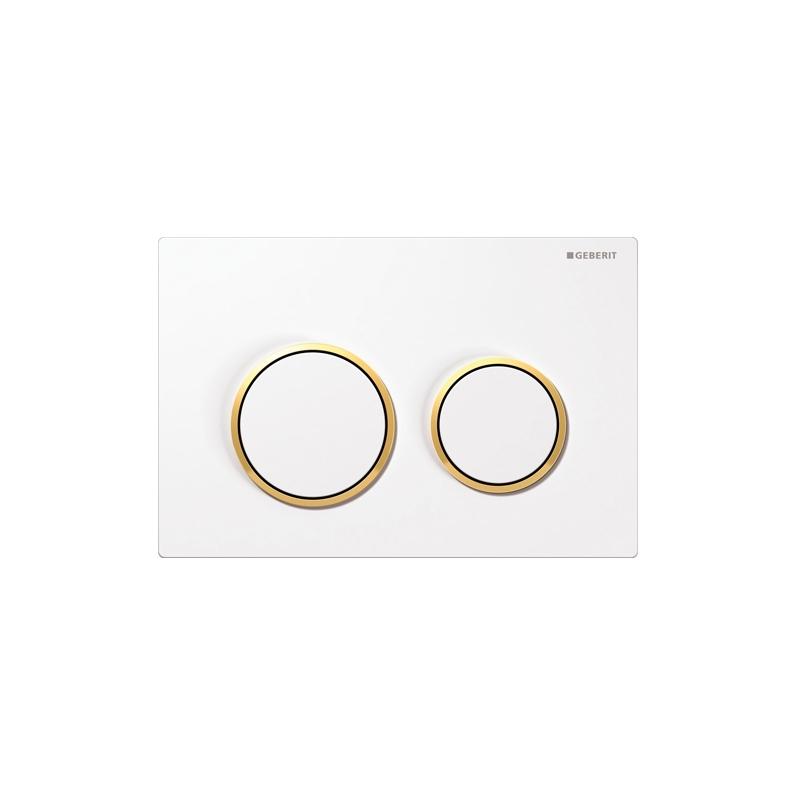 Geberit Omega20 Flush Plate White & Gold