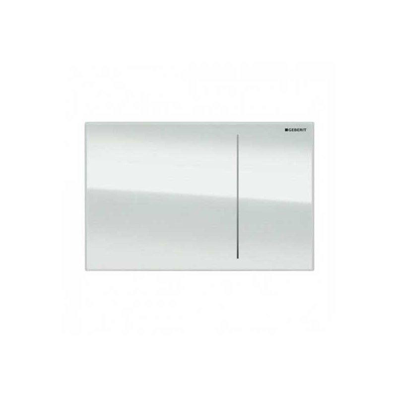 Geberit Omega70 Flush Plate for Solid Wall White Glass