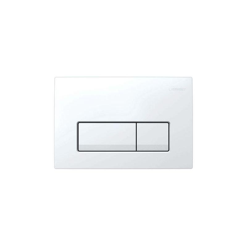 Geberit Delta51 Flush Plate, Dual Flush, White Alpine