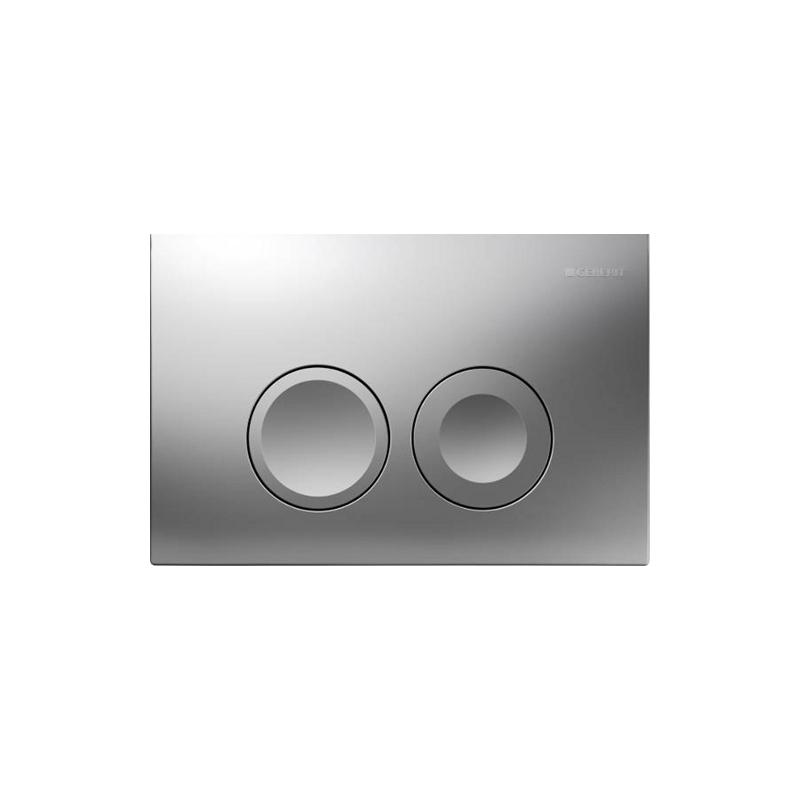 Geberit Delta21 Flush Plate, Dual Flush, Matt Chrome