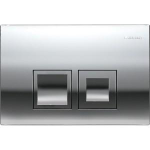 Geberit Delta50 Flush Plate, Dual Flush, Gloss Chrome