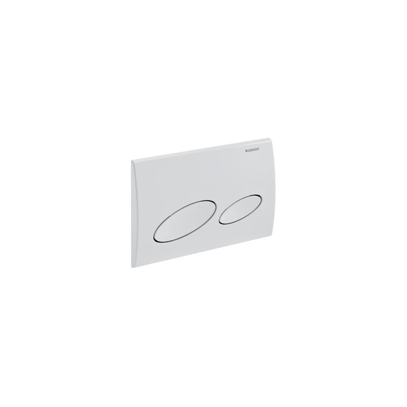 Geberit Flush Plate Kappa20 Dual Flush, Plastic, White