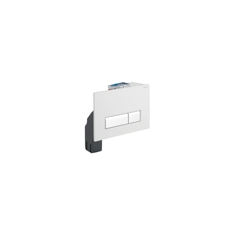 Geberit Flush Plate Sigma40 with Odour Extraction, Black Plastic
