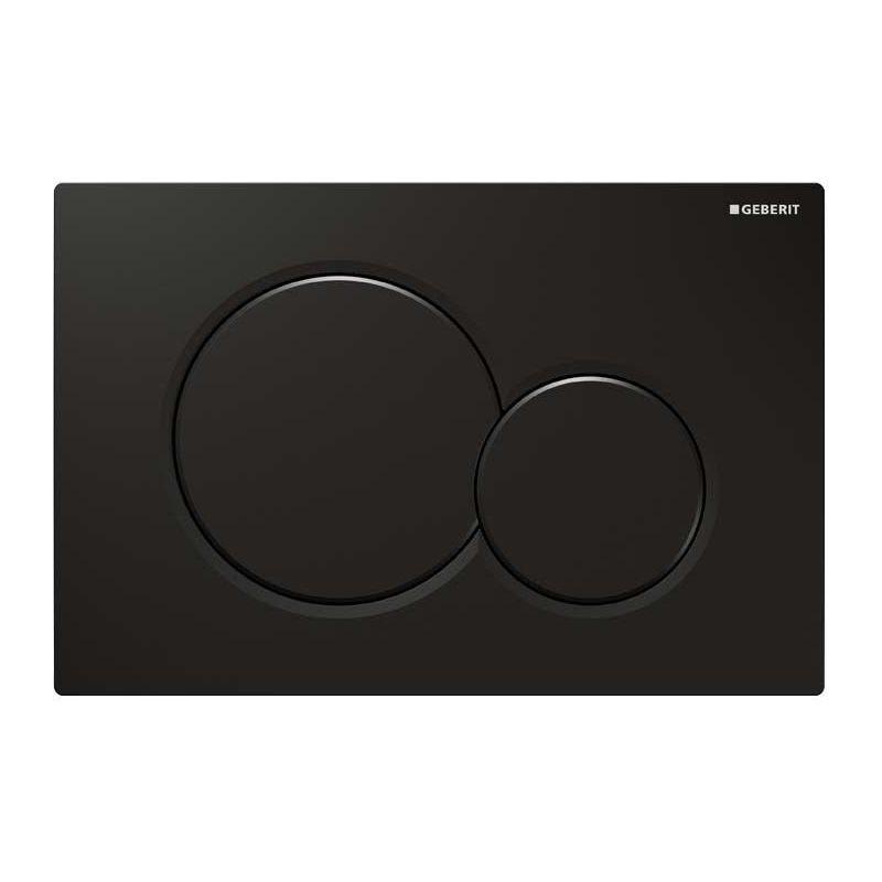 Geberit Flush Plate Sigma01 Dual Flush, Plastic, Jet Black