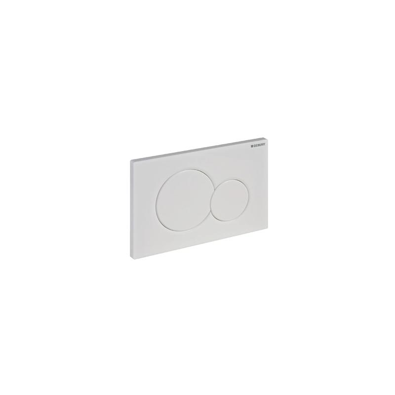 Geberit Flush Plate Sigma01 Dual Flush, Plastic, Chrome