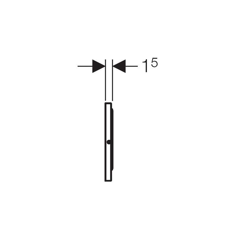 Geberit Flush Plate Sigma10 Single Flush Stainless Steel Brushed