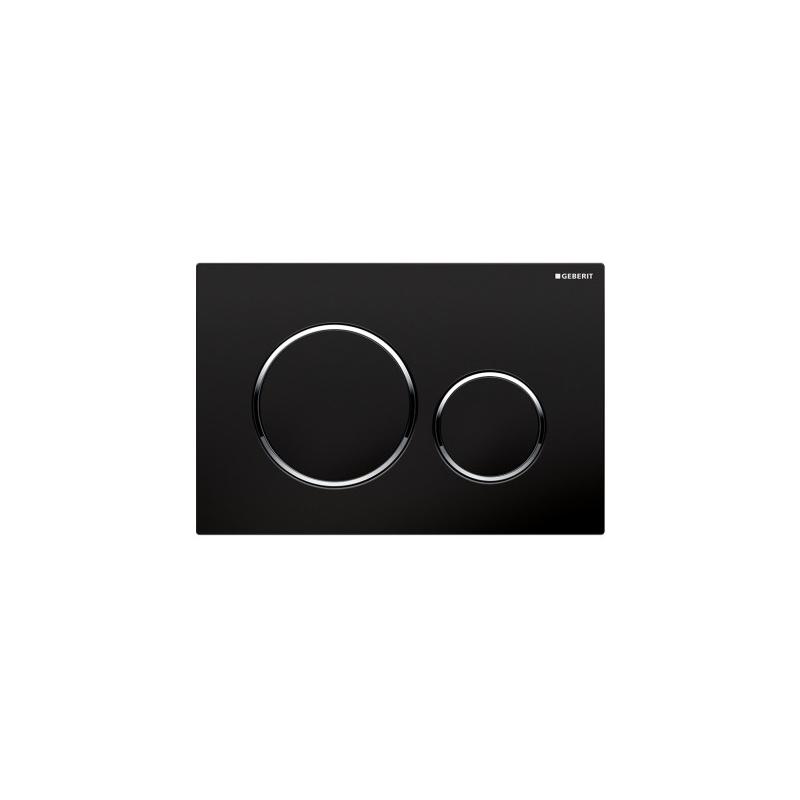 Geberit Sigma20 Dual Flush Plate Black/Bright Chrome/Black