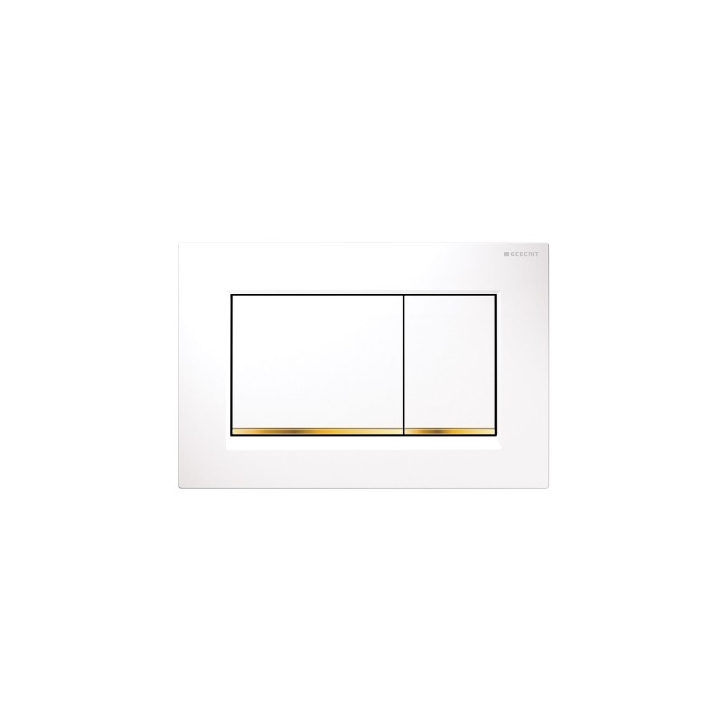 Geberit Sigma30 Dual Flush Plate White/Gold-Plated/White