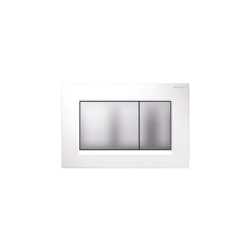 Geberit Sigma30 Dual Flush Plate White/Matt Chrome/Matt Chrome