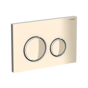 Geberit Sigma21 Flush Plate, Dual Flush, Sand Grey-Chrome