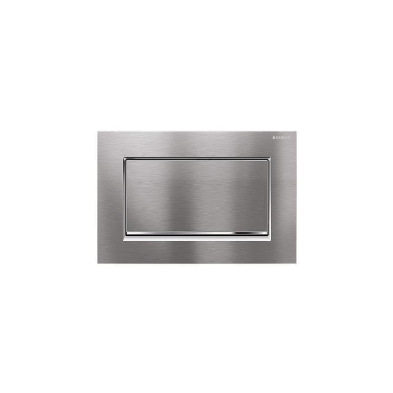 Geberit Sigma30 Single Flush Plate Brushed/Gloss Screwable