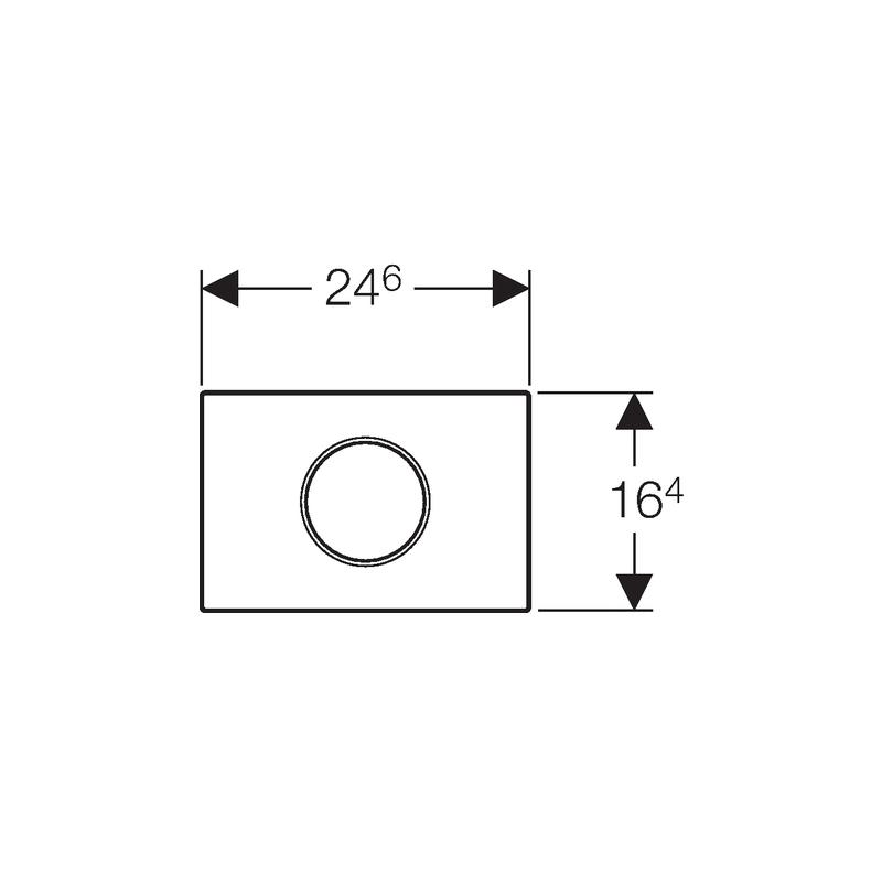 Geberit Flush Plate Sigma10 Mains Bright Chrome / Matt Chrome