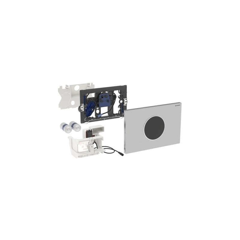 Geberit Flush Plate Sigma10 Battery Stainless Steel Brushed