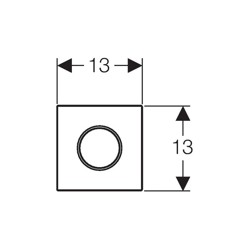 Geberit Urinal Flush Control Sigma10, Matt/Gloss Chrome