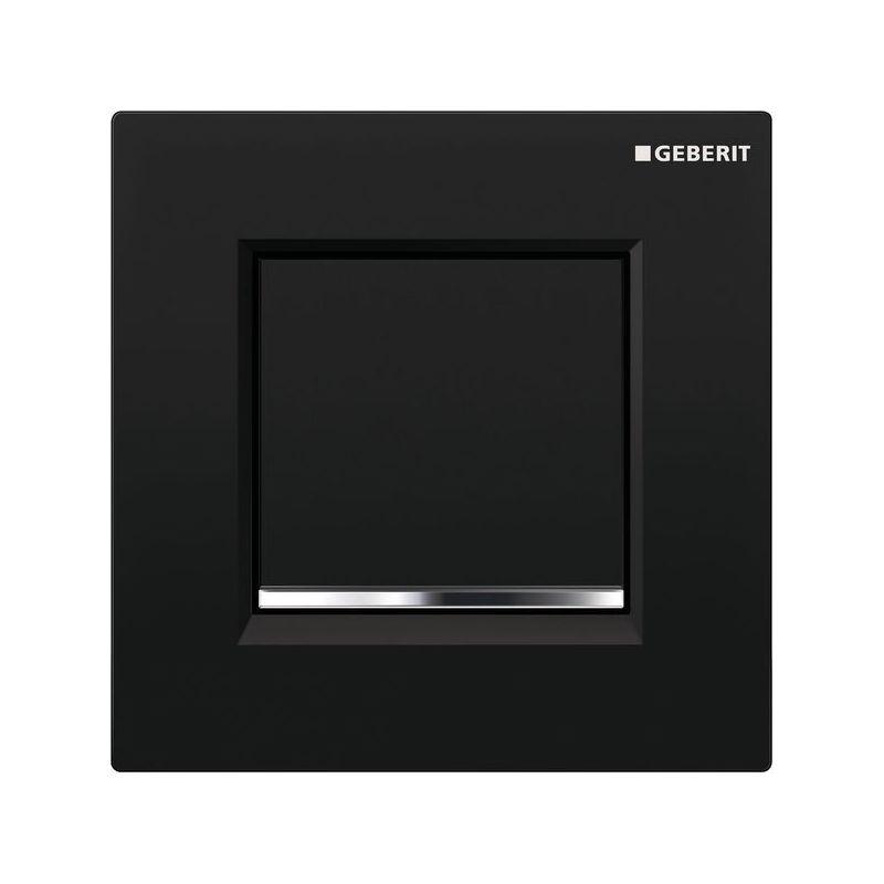 Geberit Sigma30 Urinal Flush Pneumatic Black/Bright Chrome/Black