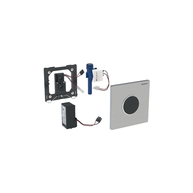 Geberit Urinal Flush Control Mains, Sigma10, Black/Chrome