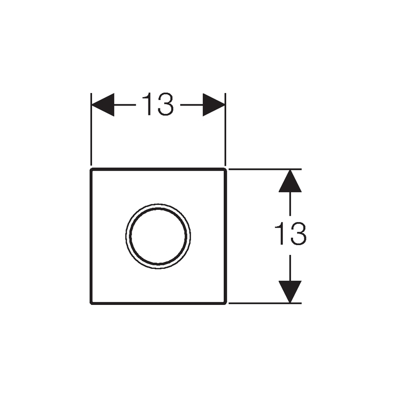 Geberit Urinal Flush Control Battery Sigma01, Matt Chrome