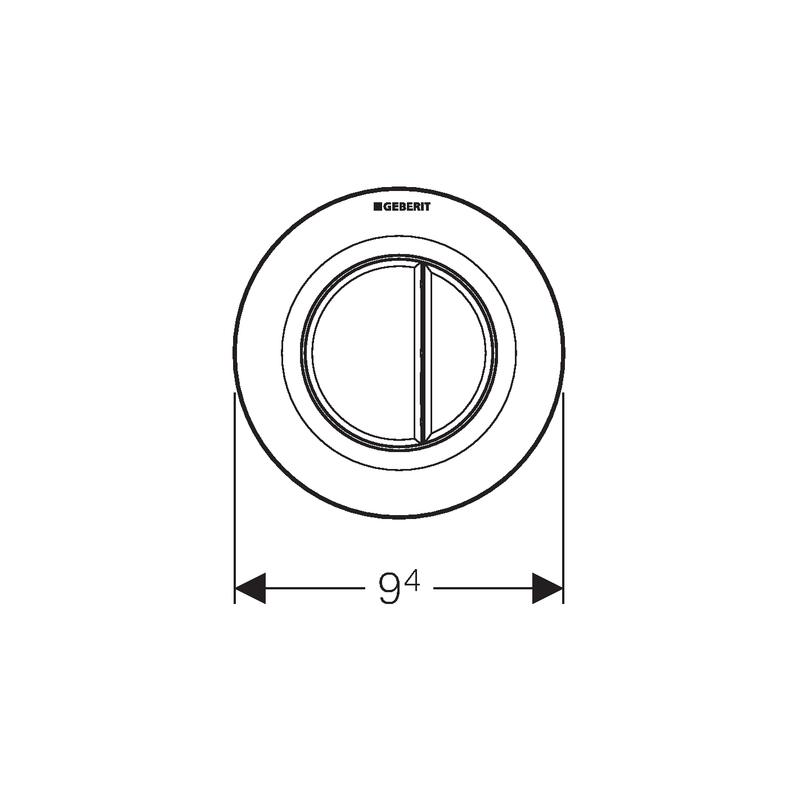 Geberit Dual Flush Button Gloss Chrome Type 01 for Cistern 8cm