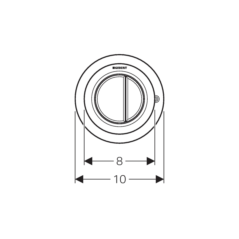 Geberit Dual Flush Button Gloss Chrome Type 01 for Furniture
