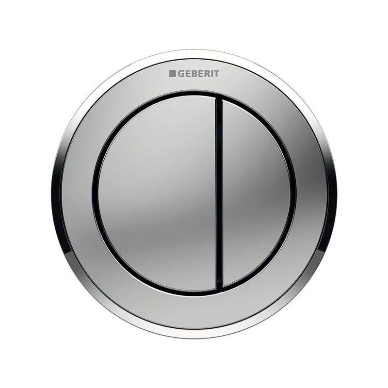 Geberit Type10 Dual Flush Button Matt/Gloss Chrome