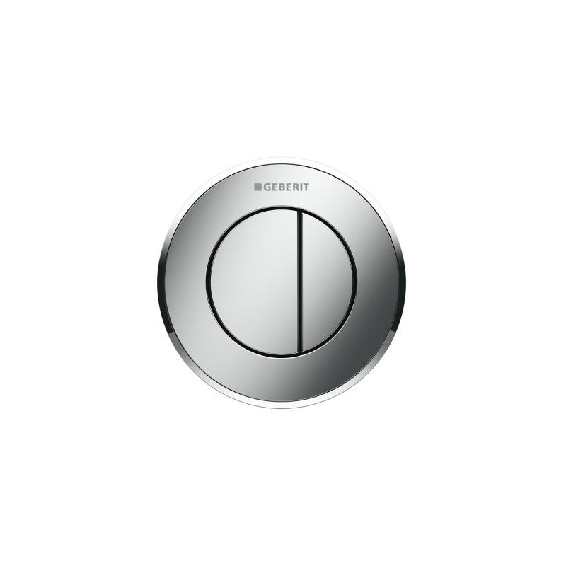 Geberit Dual Flush Button Type 10 8cm Gloss/Matt/Gloss Chrome