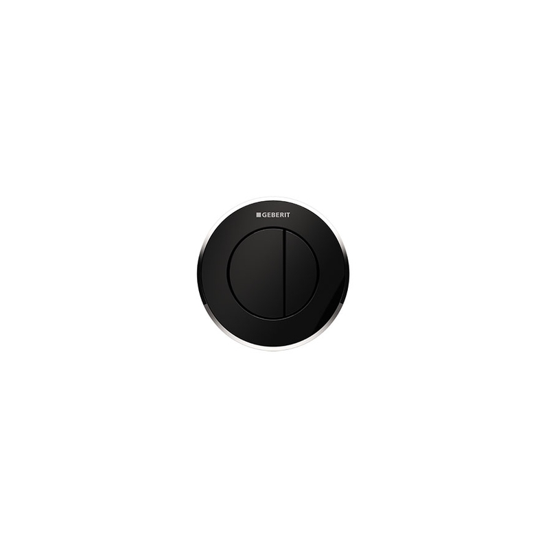 Geberit Dual Flush Button Type 10 8cm Black/Gloss Chrome/Black