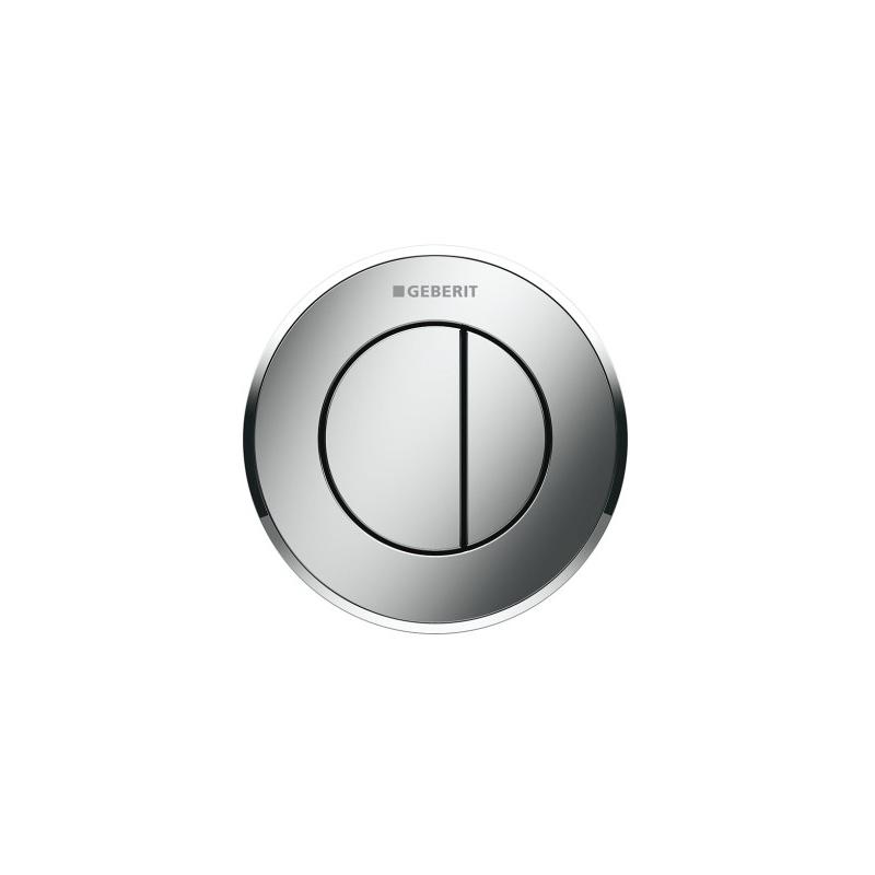 Geberit Dual Flush Button Type 10 8cm Matt/Gloss/Matt Chrome