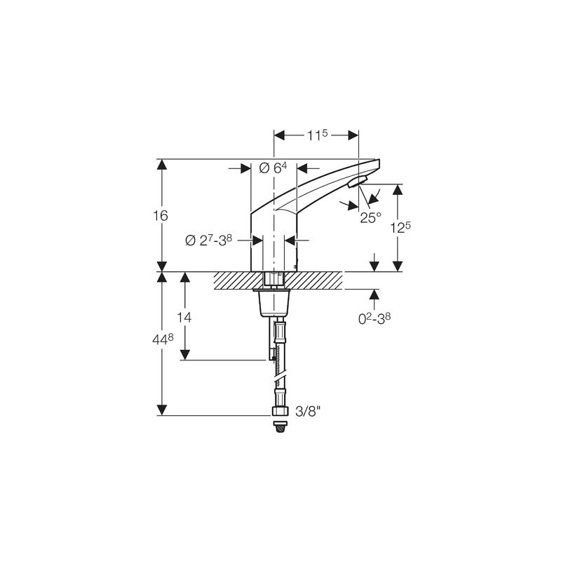 Geberit Washbasin Tap 185, Battery, without Mixer