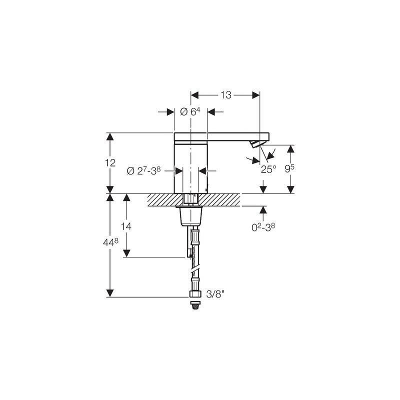 Geberit HyTronic 186 Infra-Red Washbasin Tap Battery