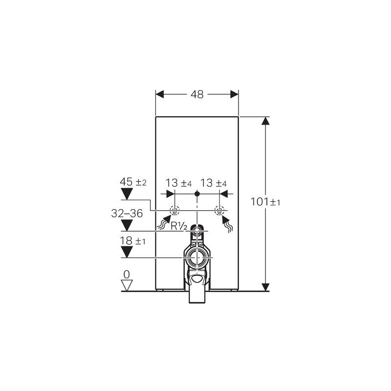Geberit Monolith Module for Floor Standing WC 101cm Mint Glass